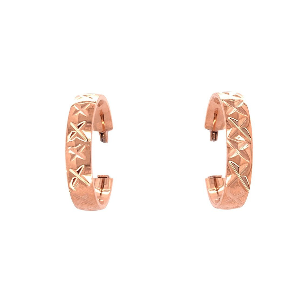 Stainless Steel Rose Hoop Earrings Earrings Bevilles