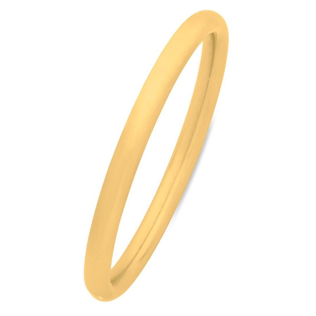 Stainless Steel Gold Colour Plain Bangle Bracelets Bevilles