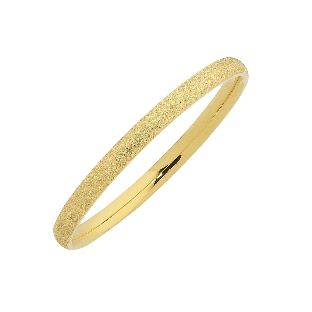 Stainless Steel Gold Tone Sparkle Bangle