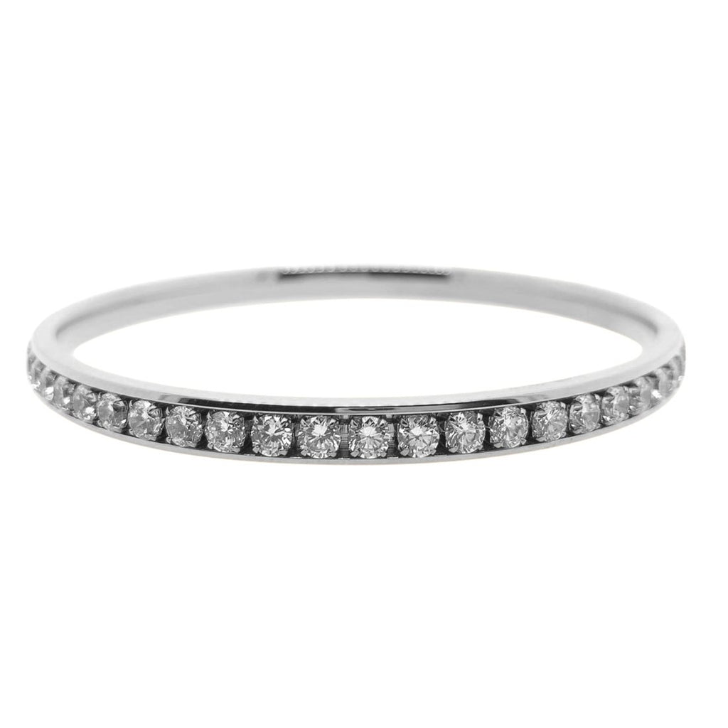 Stainless Steel Crystal Channel Bangle