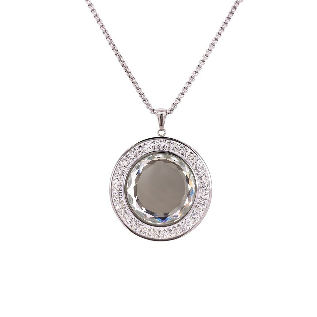 Stainless Steel Crystal Necklace Necklaces Bevilles