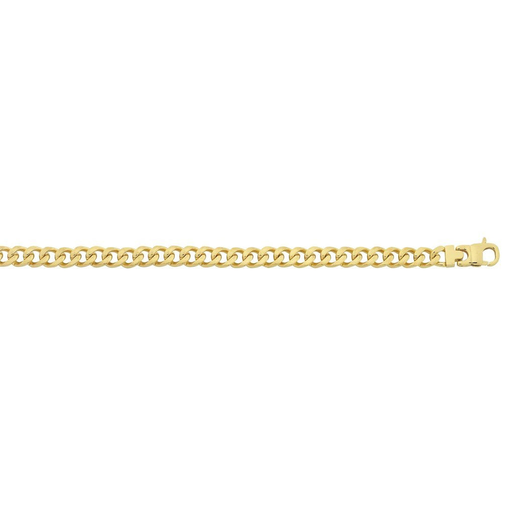 Stainless Steel Yellow Gold Curb Chain Necklace Necklaces Bevilles