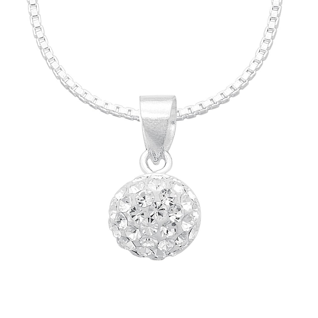 Sterling Silver Crystal Necklace Necklaces Bevilles