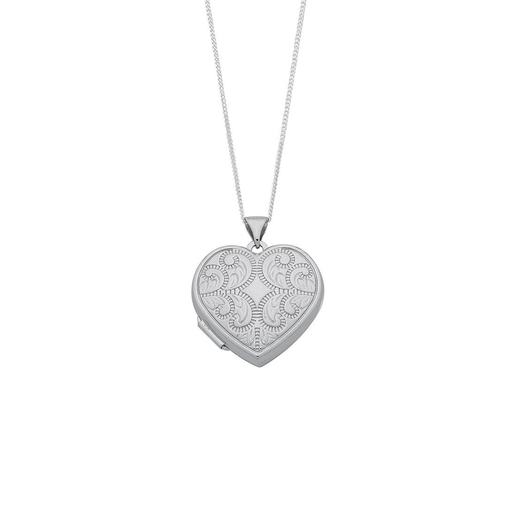 Sterling Silver Heart Locket Necklace Necklaces Bevilles