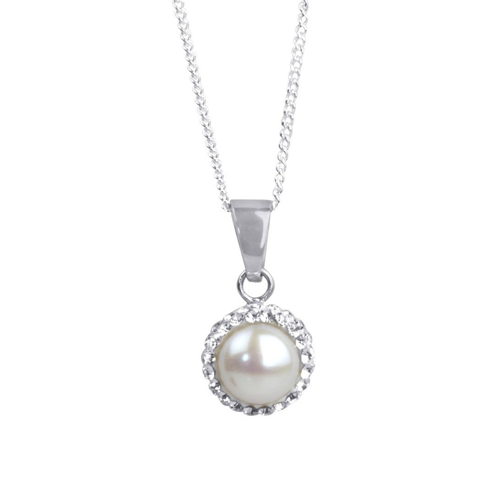 Sterling Silver Pearl June Birthstone Necklace Necklaces Bevilles