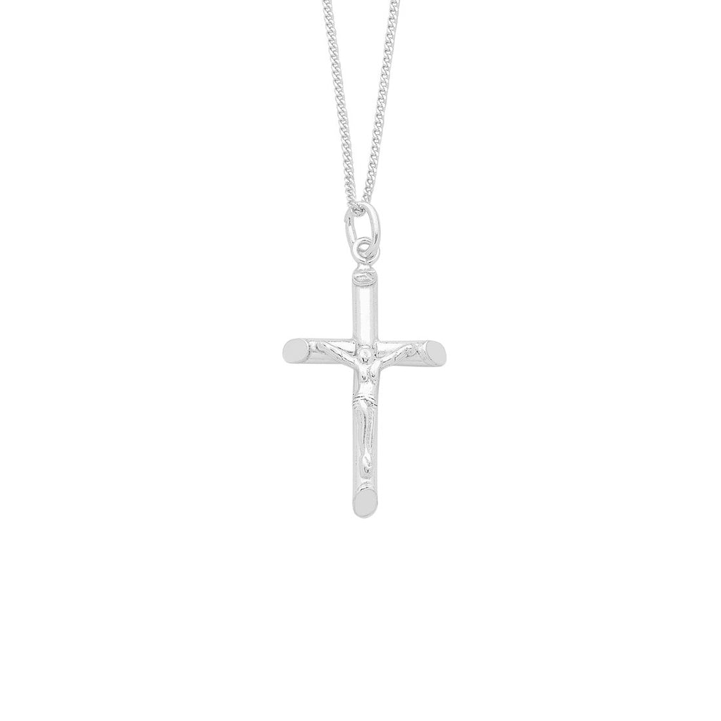 Sterling Silver Crucifix Cross Necklace Necklaces Bevilles