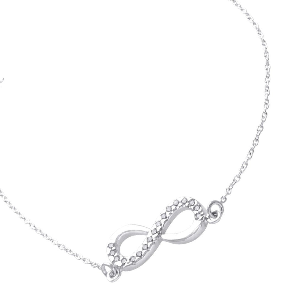 Sterling Silver Infinity Belcher Necklace Necklaces Bevilles