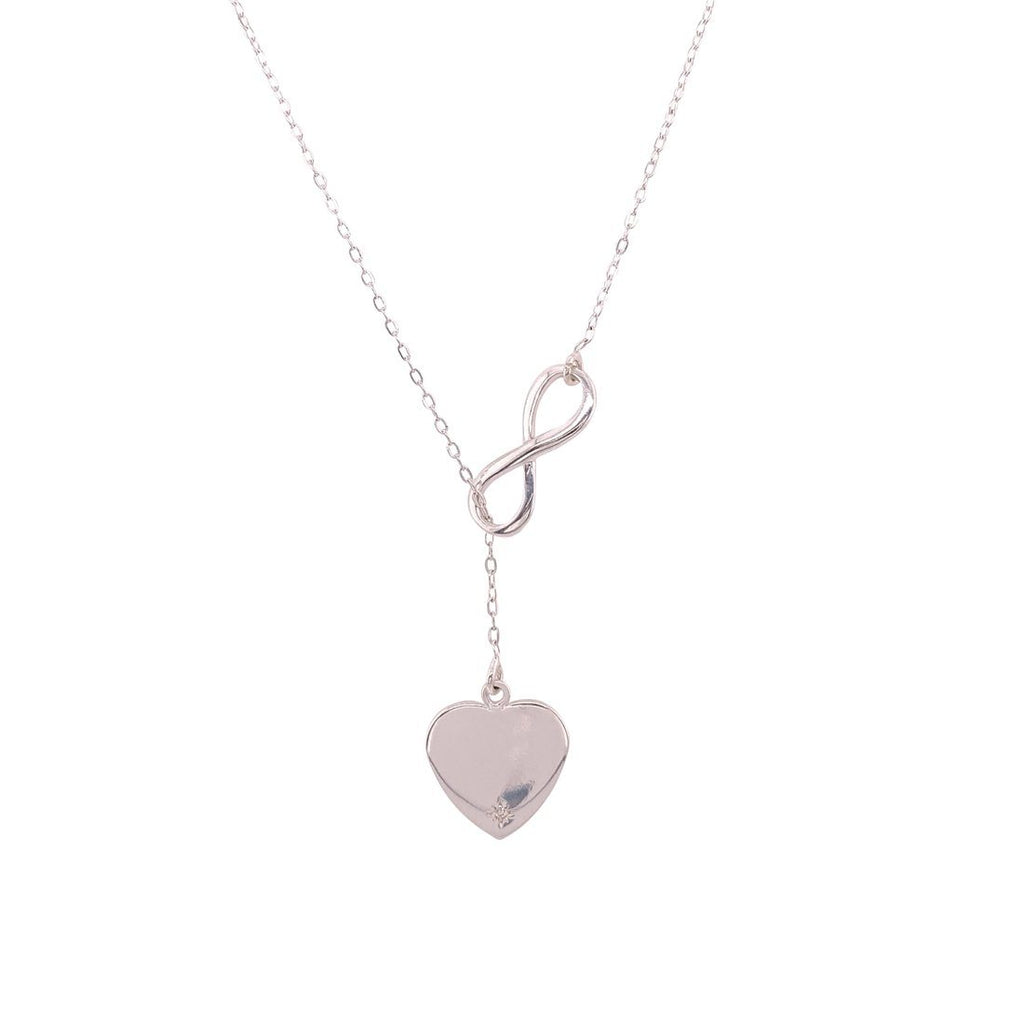 Sterling Silver Infinity Loop Heart Necklace