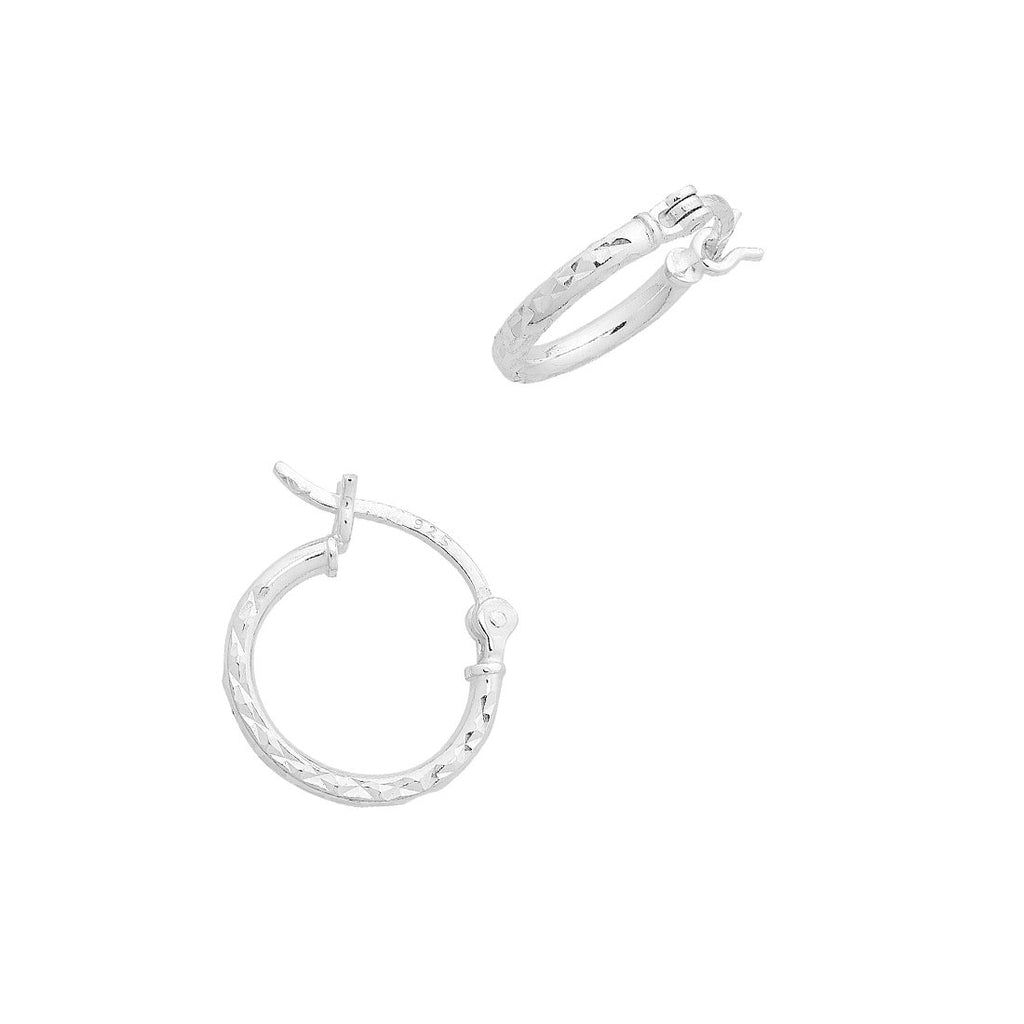 Sterling Silver 15mm Hoop Earrings Earrings Bevilles