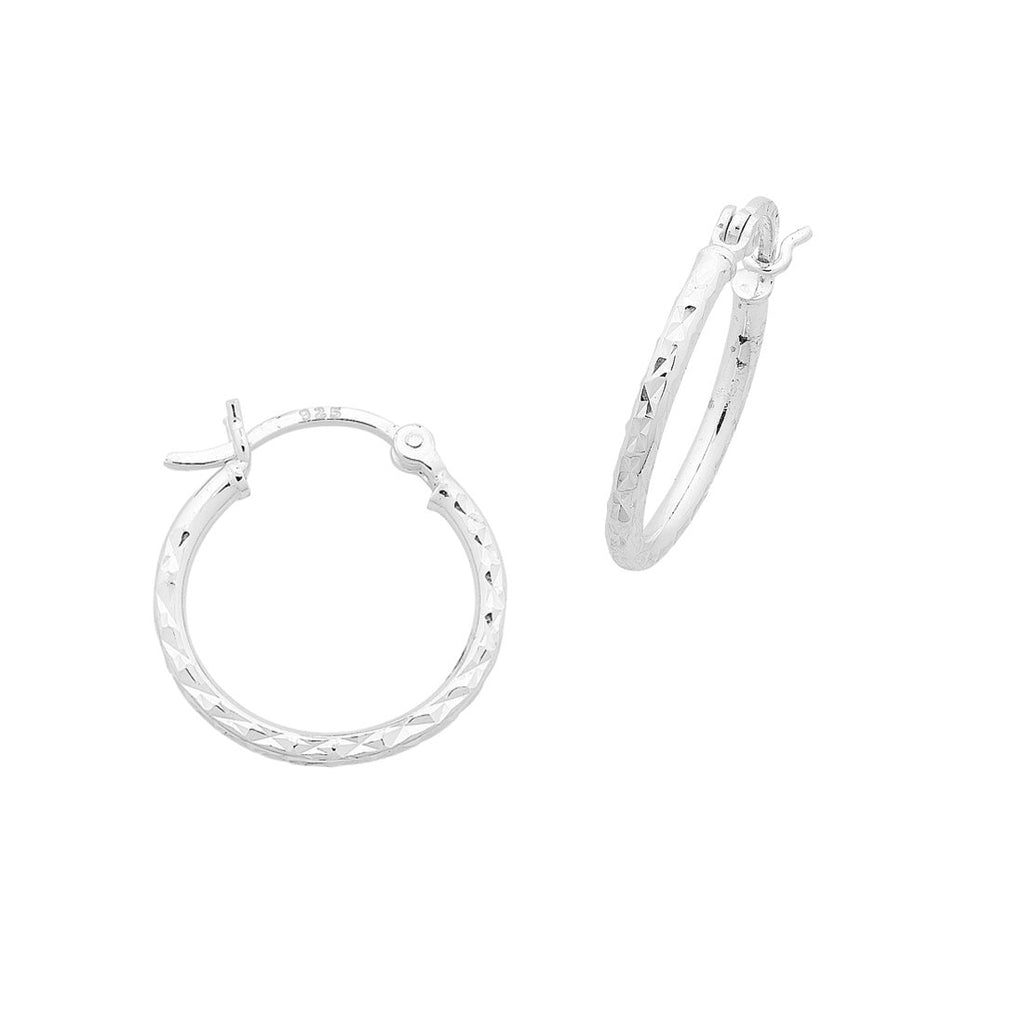 Sterling Silver 20mm Hoop Earrings Earrings Bevilles