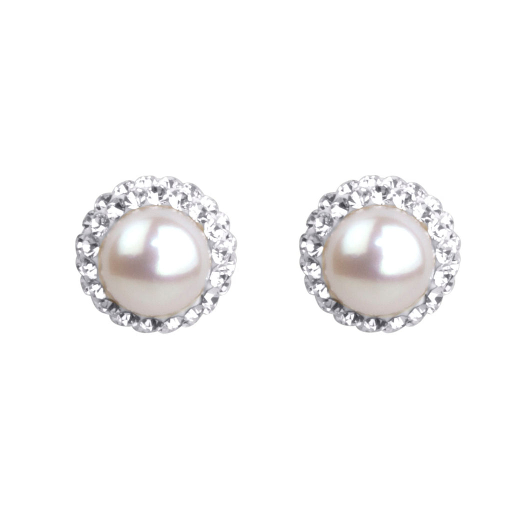 Sterling Silver Pearl June Birthstone Earrings