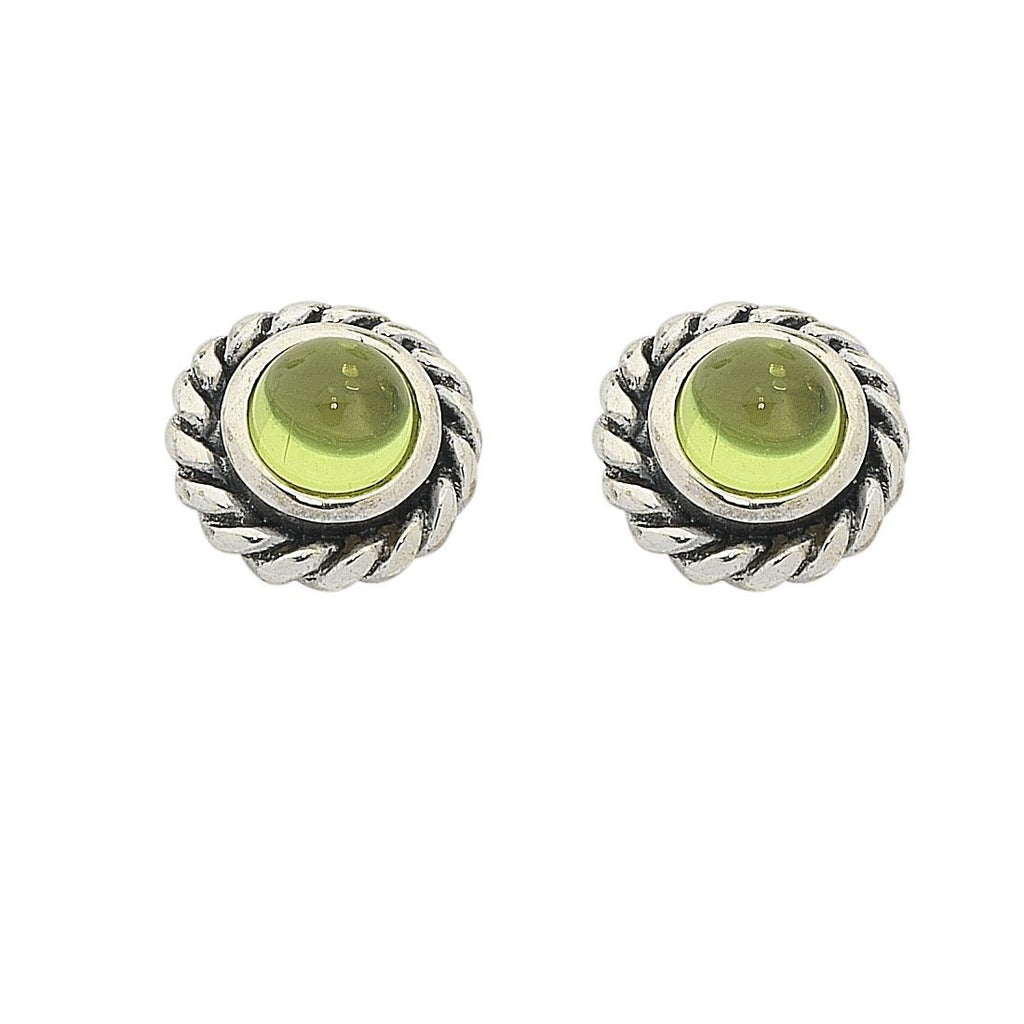 Sterling Silver Peridot August Birthstone Stud Earrings Earrings Bevilles