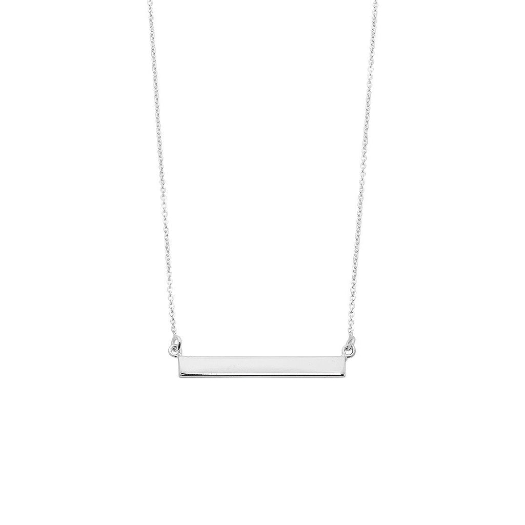 Sterling Silver Balance Bar Necklace Necklaces Bevilles