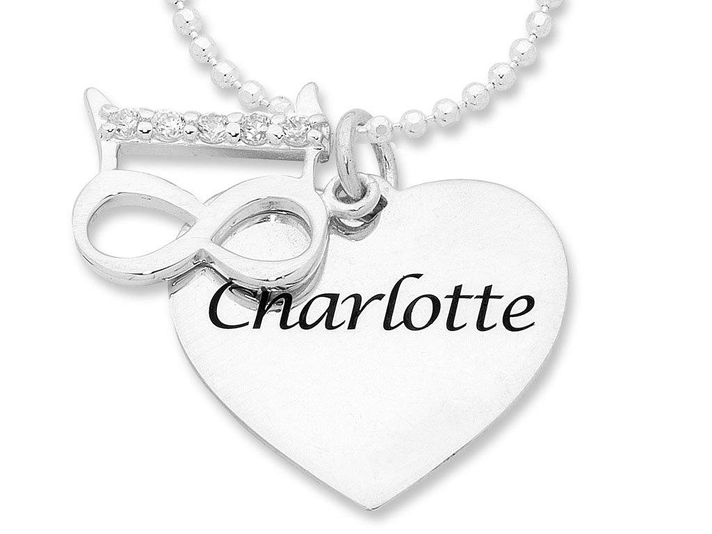 Personalised Sterling Silver Birthday Heart Necklace Necklaces Bevilles