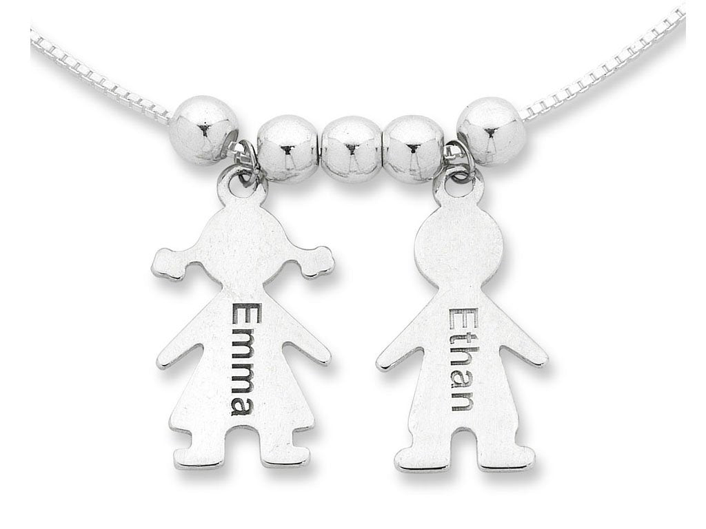 Personalised Child Charm Necklace Sterling Silver Necklaces Bevilles