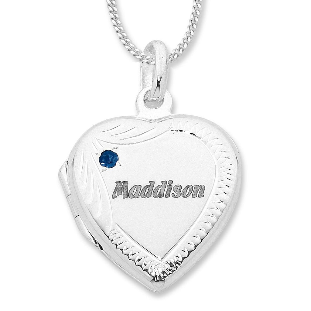 Personalised Sterling Silver Heart Locket Necklaces Bevilles