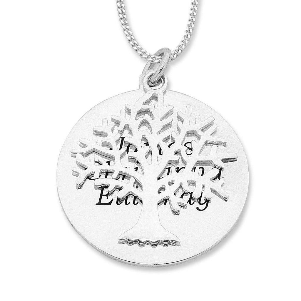 Personalised Sterling Silver Tree of Life Necklace
