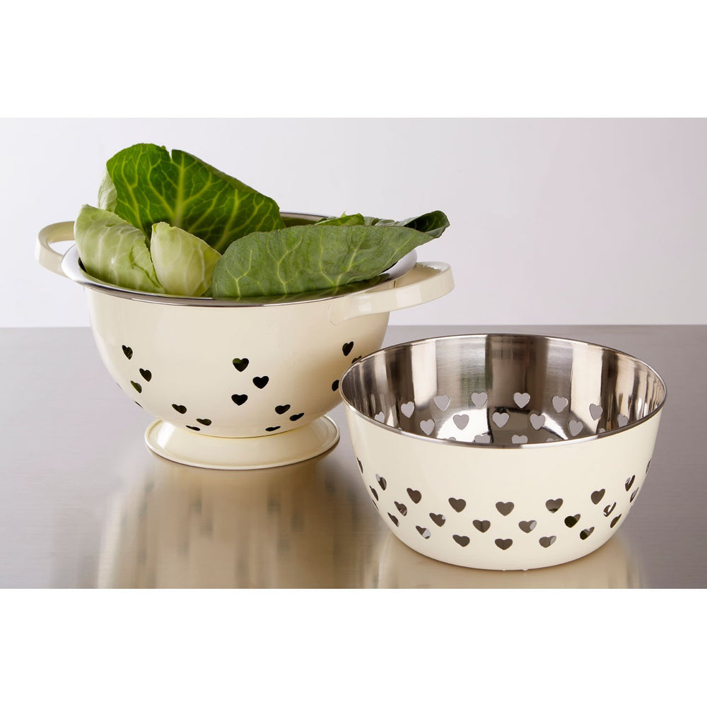IVORY STAINLESS STEEL COLANDER