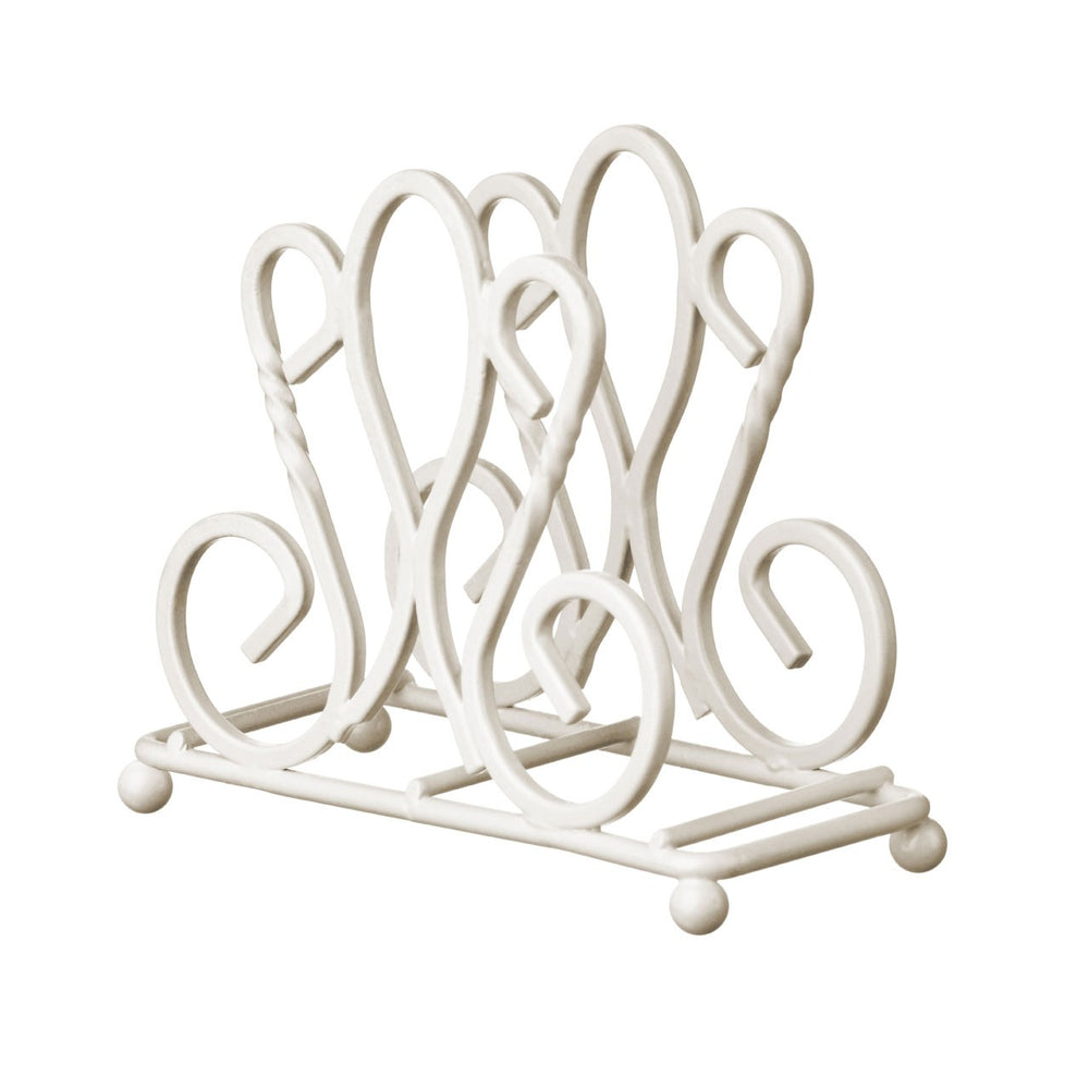 DECORATIVE SILVER NAPKIN HOLDER