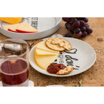 PUN & GAMES PORCELAIN CHEESE PLATES SET X 4