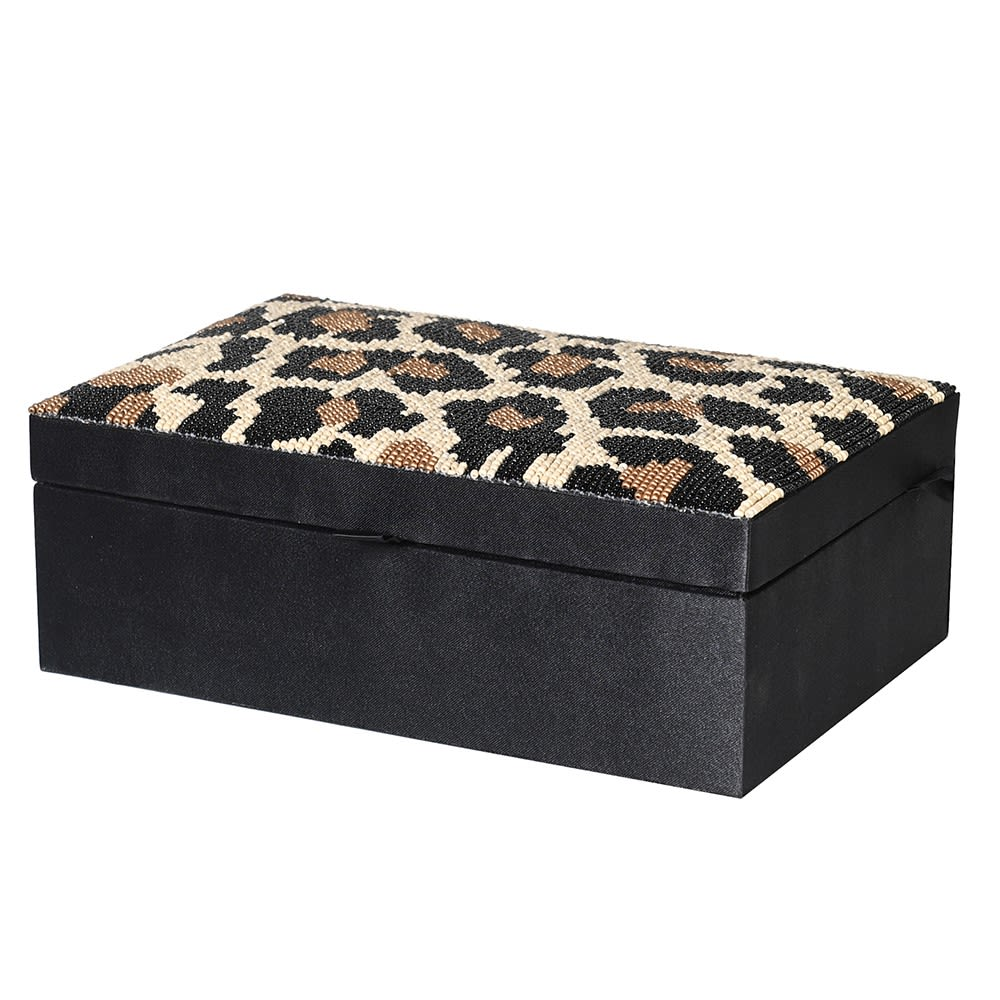 LEOPARD PRINT BEADED BOX