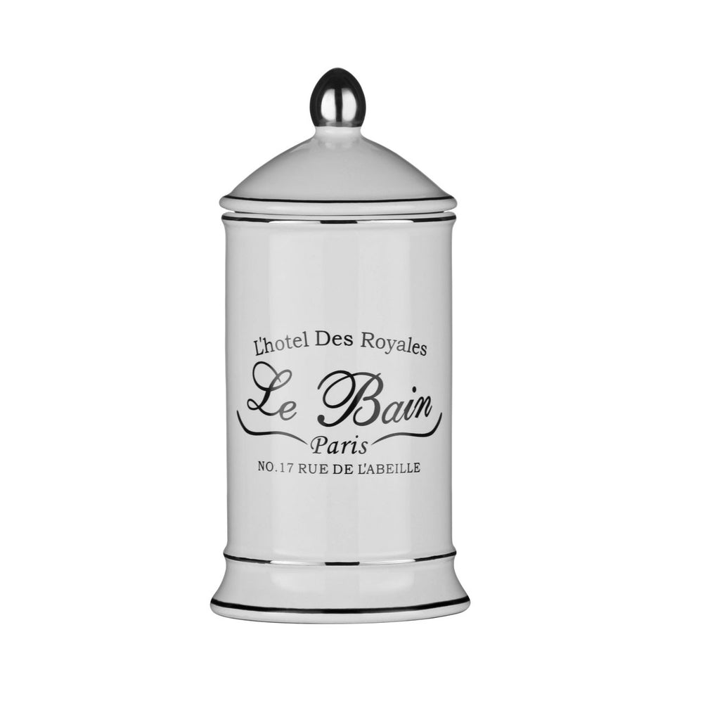 LE BAIN COTTON BUD CERAMIC JAR