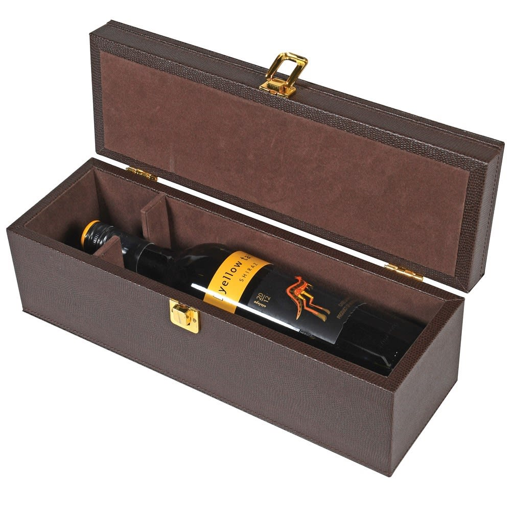 WINE BOTTLE & TOOLS CASE - BROWN