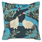 STORK DESIGN EMBROIDERED CUSHION COVER