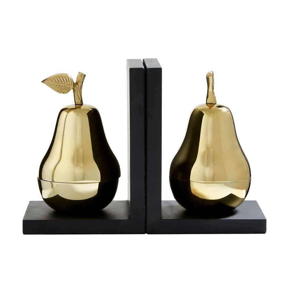 GOLDEN PEAR BOOKENDS SET/2