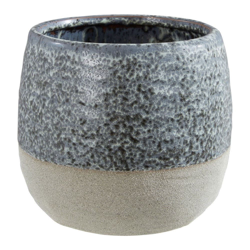 RUSTIC GREY SPECKLED LARGE PLANTER