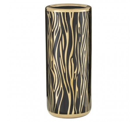 BLACK & GOLD CERAMIC UMBRELLA STAND