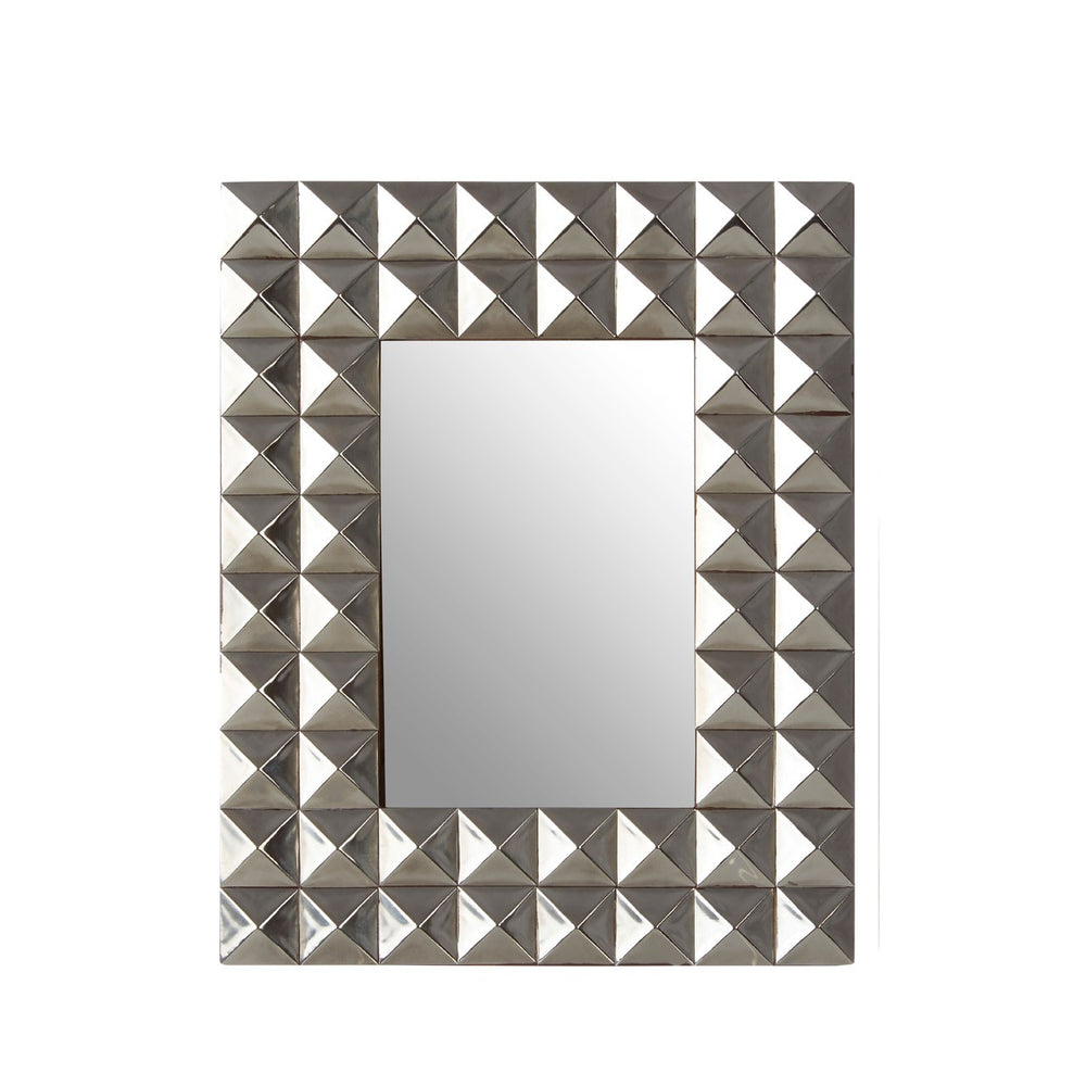 SILVER PYRAMID STUD PHOTO FRAME