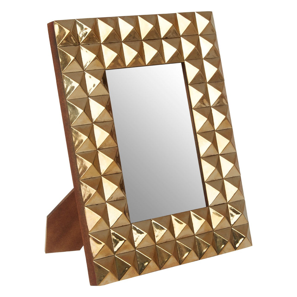 GOLD PYRAMID STUD PHOTO FRAME