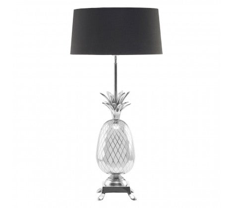 POLISHED NICKEL PINEAPPLE TABLE LAMP