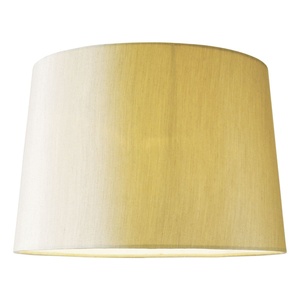 GOLD FAUX SILK 38cm TAPERED DRUM SHADE