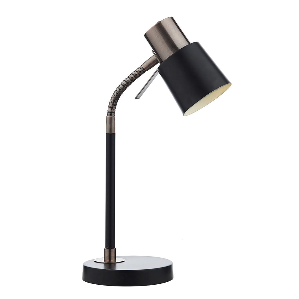 TASK TABLE LAMP BLACK & COPPER