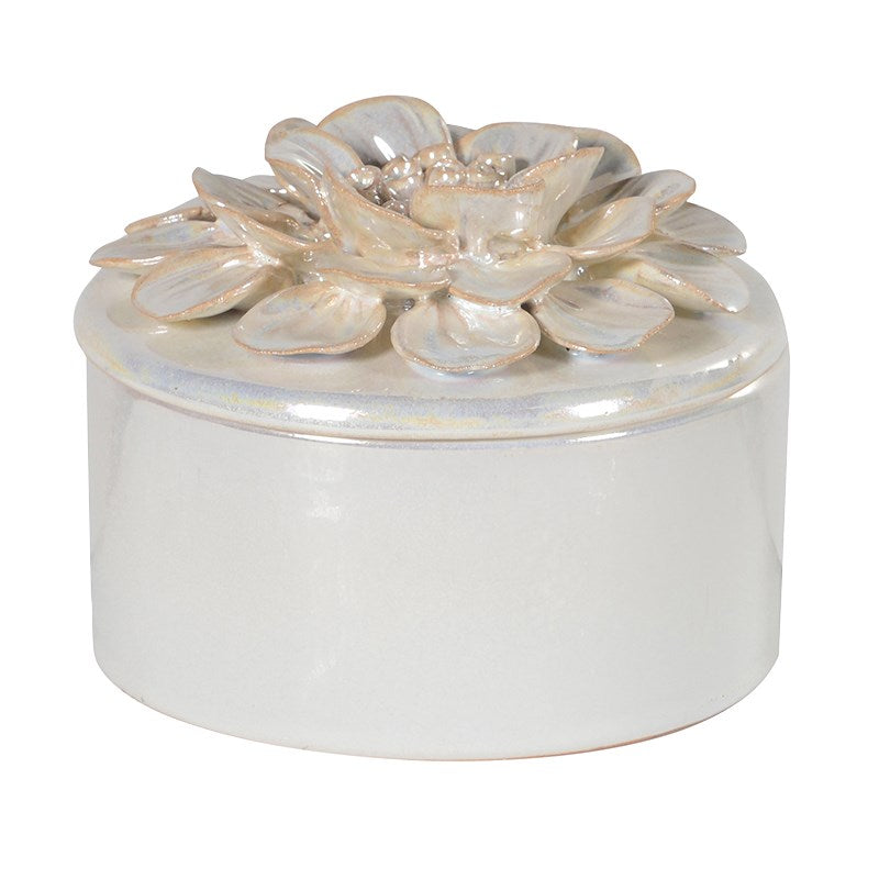 CERAMIC PEARLESCENT PETAL BOX