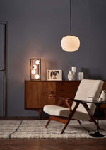 RETRO LOOK 4 OPAL SPHERES TABLE LAMP