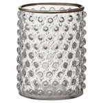 CLEAR GLASS SILVERED VOTIVE
