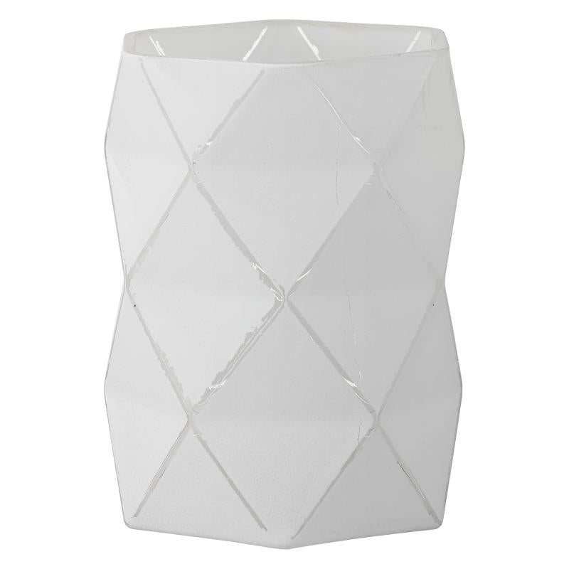 ABILENE HURRICANE TEALIGHT HOLDER WHITE