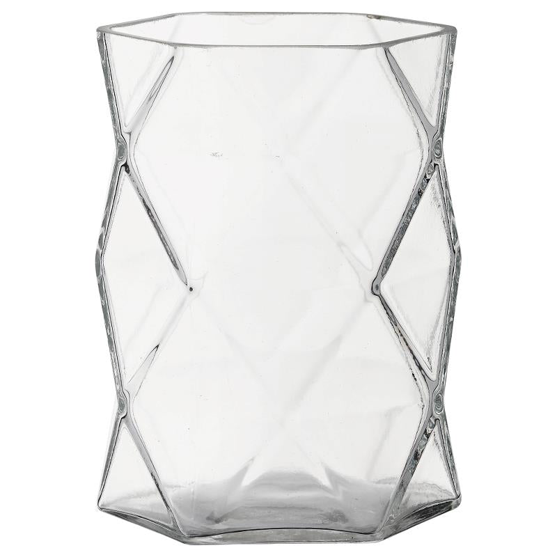 Abilene Hurricane Tealight Holder Clear  Unique transparent tealight holder made of glass. Bring a little magic to your home with the flame from a tealight burning in this tealight holder and experience the spread of an inviting and cosy atmosphere throughout your home.  Dimension: H15cm x Dia 12cm