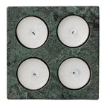 GREEN MARBLE 4 TEALIGHTS HOLDER