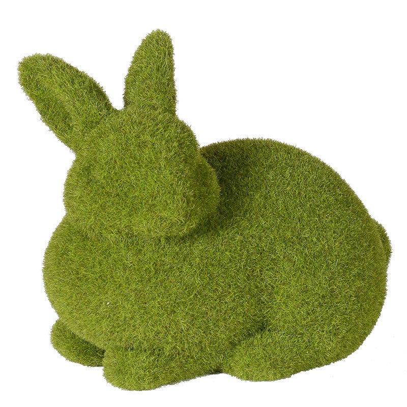SMALL GREEN CROUCHED RABBIT