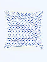 HAND BLOCK PRINT INDIGO BLUE SCATTERED STAR CUSHION