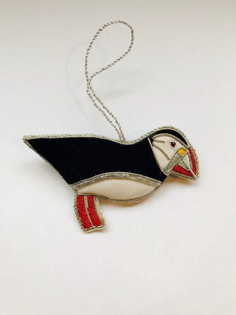 HAND MADE JEWELLED PUFFIN DECORATION