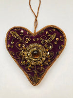JEWELLED HEART DECORATION