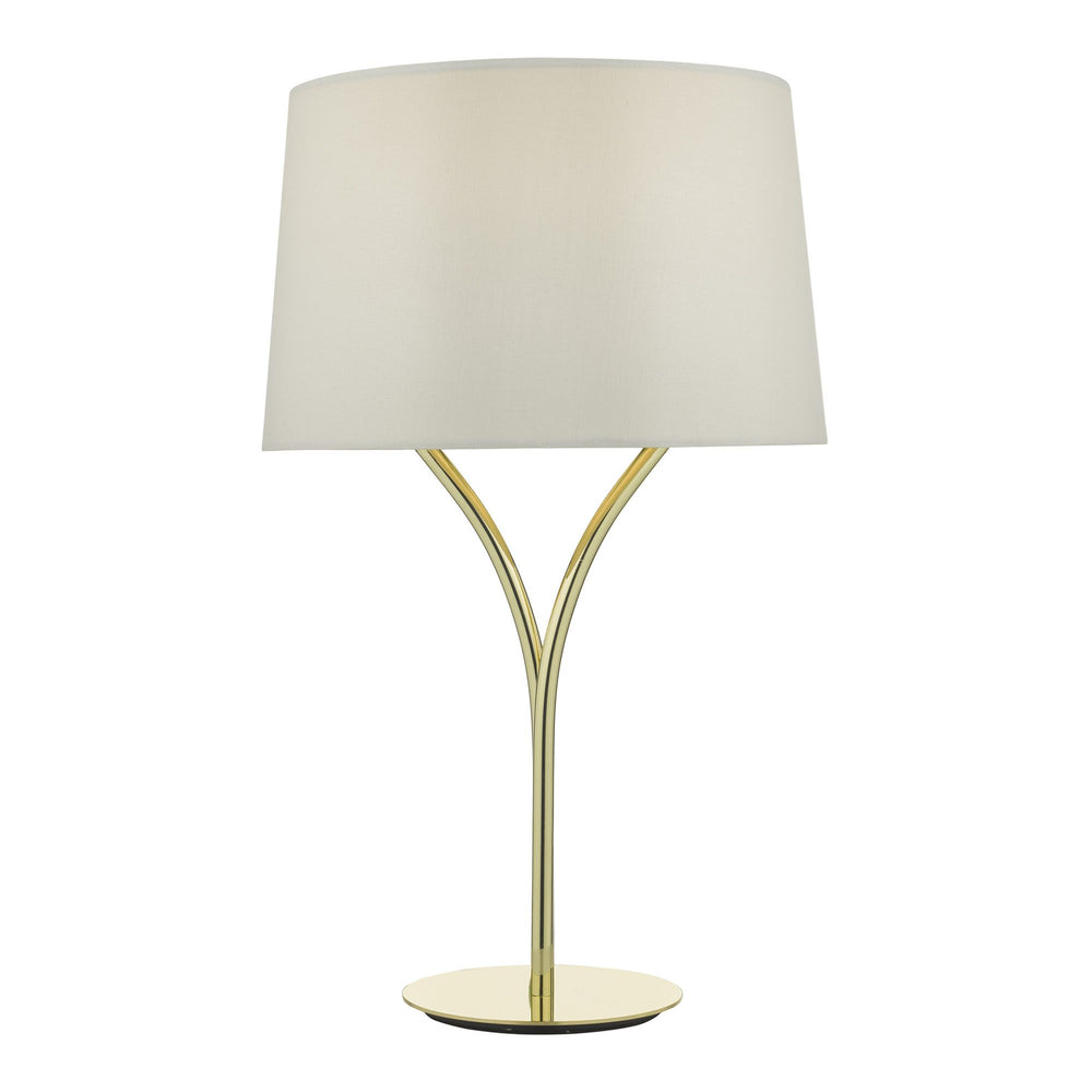 KING TABLE LAMP POLISHED GOLD WITH SHADE