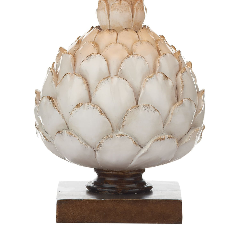 SMALL ARTICHOKE TABLE LAMP WITH CREAM SHADE