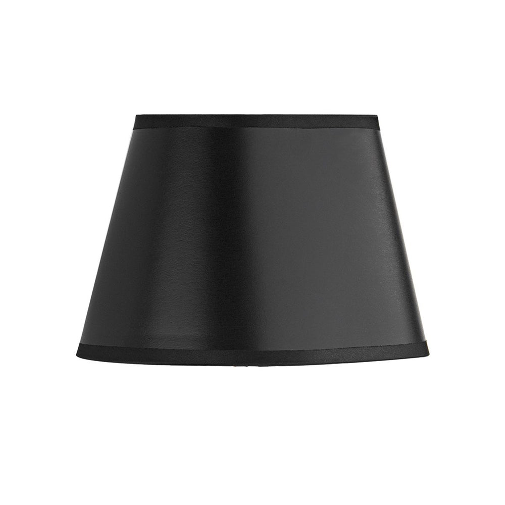 SMALL BLACK SILK LAMP SHADE