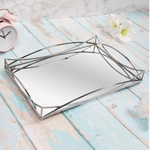 GATSBY SILVER RECTANGLE MIRRORED TRAY